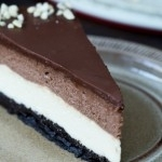 Cheescake de chocolate y vainilla